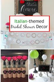 theme bridal shower decorations italian themed bridal shower l beauteeful living italy themed