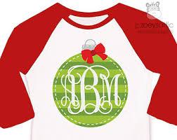 monogram christmas shirt monogram glitter santa hat personalized