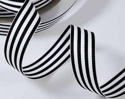 black and white striped ribbon black and white stripe ribbon 16mm wide berrisfords per metre 1