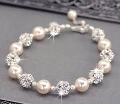 swarovski bracelet with pearls images Ivory pearl wedding bracelet swarovski pearl and rhinestone jpg