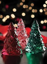 waterford mini christmas trees set