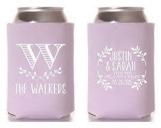 koozies for weddings wedding can coolers beverage insulators custom wedding favors we