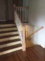 Staining Banister Stain Or Paint New Poplar Railing