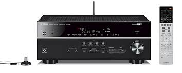 setting up a home theater amazon com yamaha rx v681bl 7 2 channel musiccast av receiver