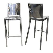 hudson bar stools philippe starck for emeco polished aluminum hudson bar stools a