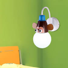 Monkey Sconces Wooden Wall Sconces Simple But Elegant Glass Shade