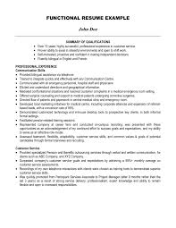 Sample Resume With Summary Statement by Glamorous Resume Summary Statement Examples Waiter Functional