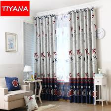 Contemporary Blackout Curtains Bedroom Amazing Aliexpress Buy Plane Tulle Boys Kids Curtains