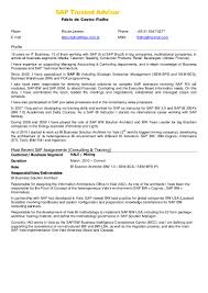 Sap Fico Sample Resume 3 Years Experience by Fábio Fialho English Resume