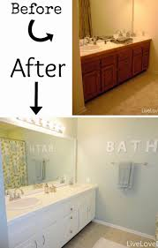 My Painted Bathroom Vanity Before - best paint for bathroom cabinets also before after my pretty