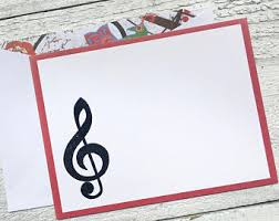 musical cards note cards etsy