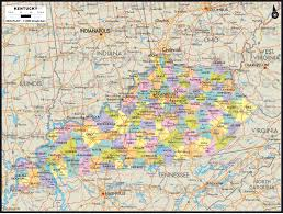 County Map Kentucky Geoatlas Thematic Maps Kentucky Map City Illustrator Fully