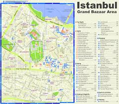 Istanbul Turkey Map Istanbul Grand Bazaar Area Tourist Map