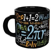 mathematical formulas mug science novelties novelty gift ideas