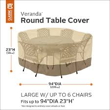 Extra Large Garden Furniture Covers - amazon com classic accessories veranda round patio table u0026 chair