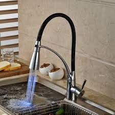 led kitchen faucet single handle led kitchen faucet with pullout sprayer chrome