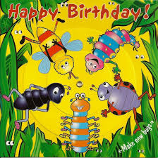 Jungle Birthday Card Children S Birthday Card Spinner Jungle Bugs
