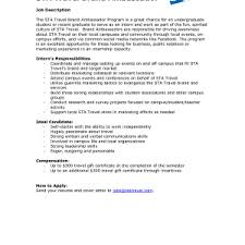 Sample Brand Ambassador Resume Cover Letter It Job Cover Letter Examples Ceo Resume Template Pdf