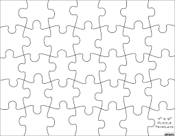 editable jigsaw pieces template