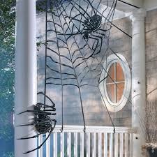 Spider Web Halloween Decoration Massive Black Skeleton Spider The Green Head