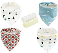 amazon com baby bandana drool bibs unisex 4 pack cute bibs with