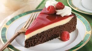 raspberry glazed double chocolate dessert recipe bettycrocker com