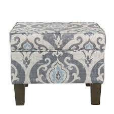 Homepop Storage Ottoman Homepop Suri Storage Ottoman Blue Slate Free Shipping Today