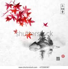 japanese maple ornament label vector designs free