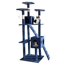 Cat Condos Cheap Amazon Com Bestpet 9073 73 Inch Cat Tree Scratcher Play House