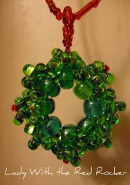 beaded wreath pendant with the rocker