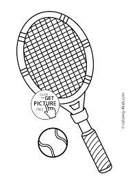 tennis sport coloring page for kids printable free coloing