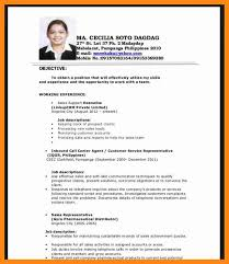 Sample Of Resume Objectives by 5 Sample Resume Objective For Fresh Graduates Graphic Resume