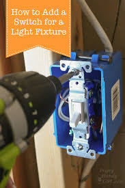How To Change Out A Light Switch How To Add A Switch To A Light Fixture Pretty Handy