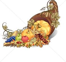 cornucopia color clipart thanksgiving clipart