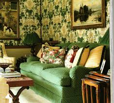 mossy green buttery yellow and antiques nina campbell interior