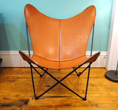 vintage leather butterfly chair circa