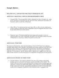 sample bylaws for va 501 c organization board of directors