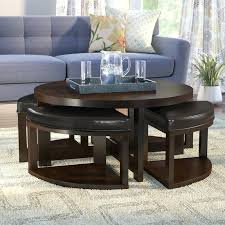 round coffee table with 4 stools coffee table with nesting stools coffee table with 4 nested stool