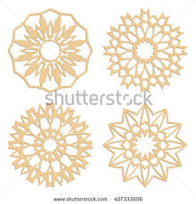diy laser cutting patterns islamic die stock vector 407333956