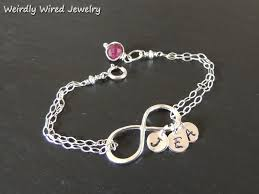 silver infinity bracelet with charms images Weirdly wired jewelry infinity bracelet jpg