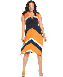alfani plus size dress sleeveless striped plus size dresses