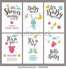 baby shower poster baby shower posters set vector invitation stock vector 530168938