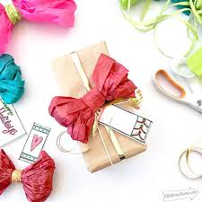 gift paper tissue and easy diy tissue paper bow 100 directions