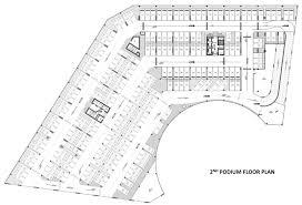 Podium Floor Plan by Azizi Farhad Apartments Floor Layout Plan