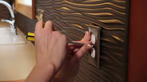 Thermoplastic Decorative Wall Panels Diy Backsplash Installation Fasade Panels Youtube