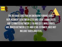 Brake Cost Estimate by How Much Does It Cost To Fix The Emergency Brake
