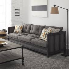creston 94 inch smoke linen sofa free shipping today overstock