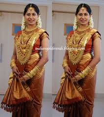 south indian laden with gold ornaments arunbalaji s