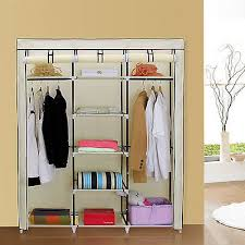 songmics 59 portable wardrobe clothes closet storage organizer