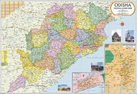 Bay Of Bengal Map Buy Odisha Map Book Online At Low Prices In India Odisha Map